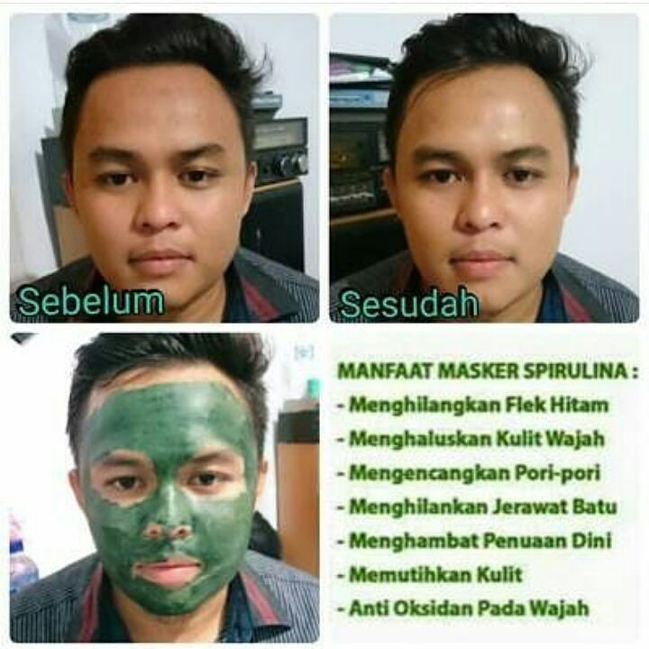 Masker Spirulina Tiens   WA 082187279098